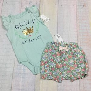 Gap Girls 18-24 Month Queen Of Crib Shorts Outfit